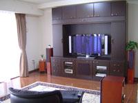 ホームシアター工房製家具を中心としたシステムです。