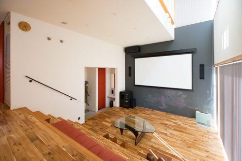 ホームシアターインストーラーの仕事255~自由設計の魅力を活かしたリビングシアター
